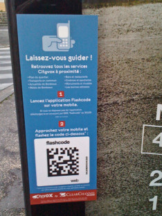 """Code 2D """"flashcode"""" Cityvox by ClearChannel"""